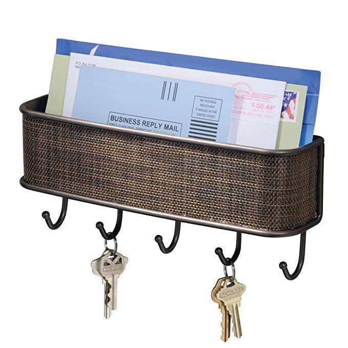 InterDesign Twillo Mail, Letter Holder, Key Rack Organizer