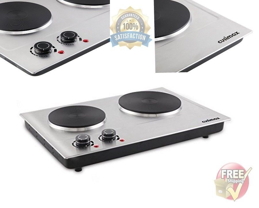 Portable Electric Cooktop Double Burner 2 Two Cooking Stove Hot Plate Commercial Cusimax Hot Plate Plates Ebay