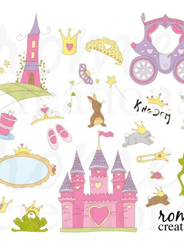 Free Printable Scrapbook Sets | Princess Fairy Tale Items Digital ...