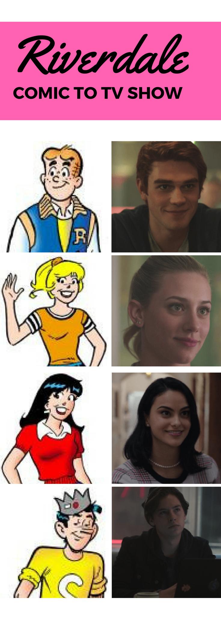 Riverdale Archie Comics Based Tv