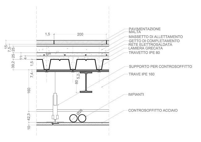 Trave ipe solaio acciaio cerca con google details for Strutture metalliche dwg