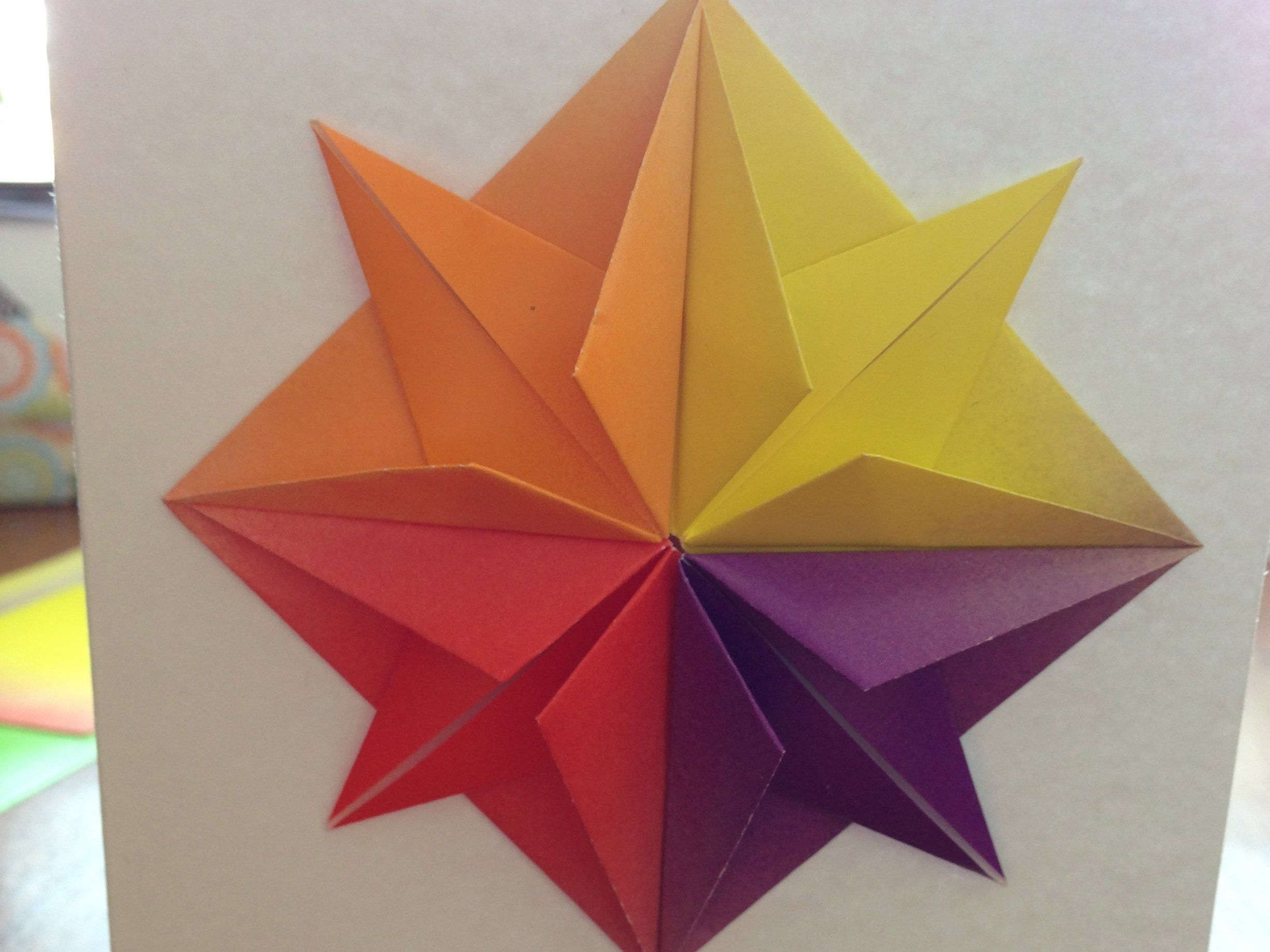 Origami Star Greeting Card Crafts And Diy Pinterest Origami
