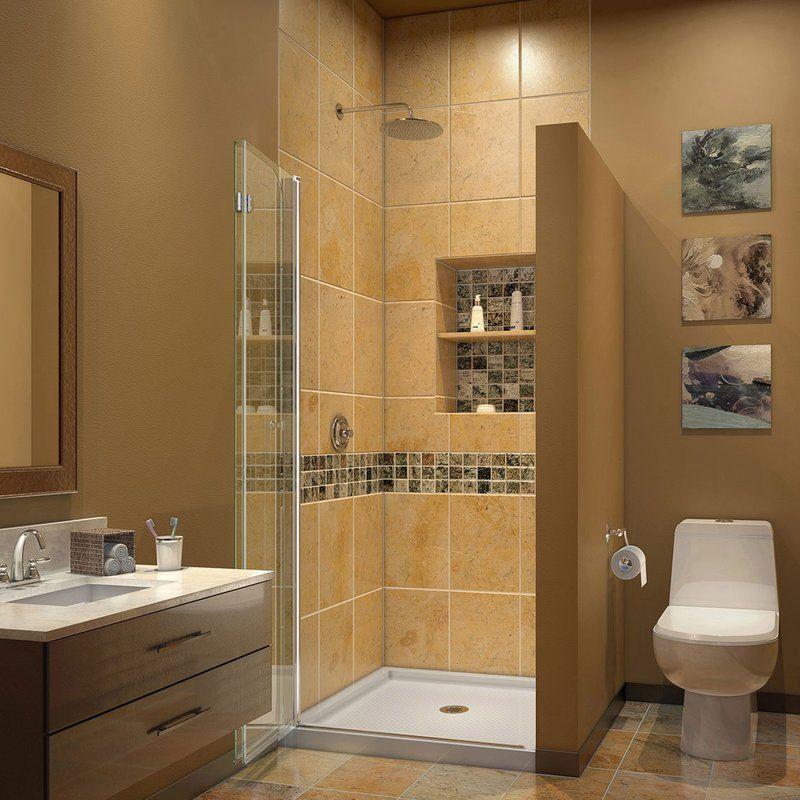 The DreamLine Aqua Fold is a bi-fold shower or tub screen with a ...