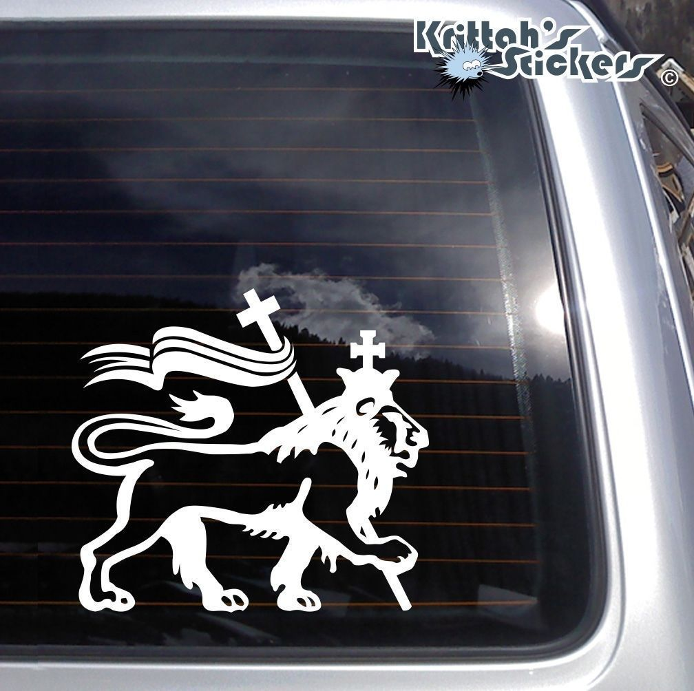 Rasta lion of judah vinyl decal fits pc mac laptop car window sticker k156