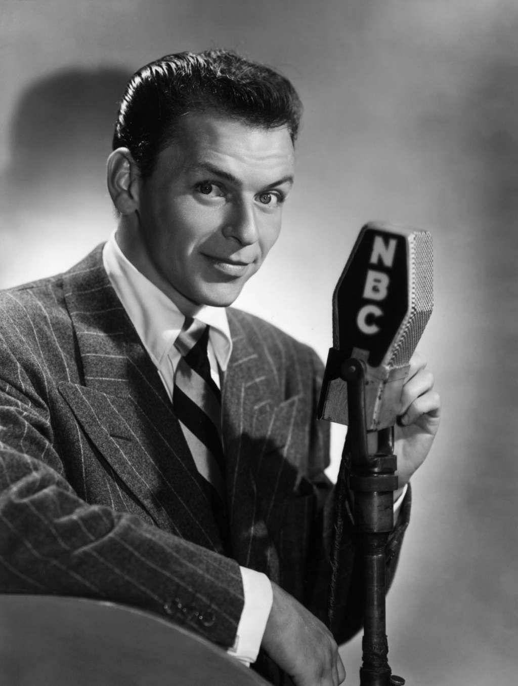 Frank Sinartra Smiling Pose American Singer Actor Poster Black White Photo Hat
