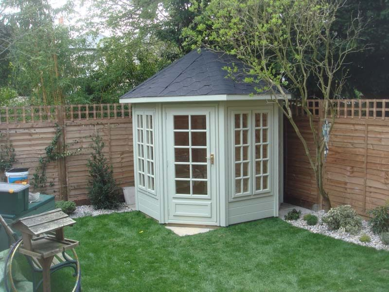 octagonal garden shed and summerhouses give you a different look and can fit into many different areas view our range online today - Garden Sheds With A Difference