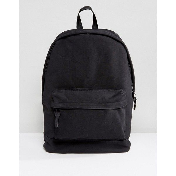 ASOS Backpack In Textured Fabric In Black ( 41) ❤ liked on Polyvore  featuring men s fashion 21c32722d6707