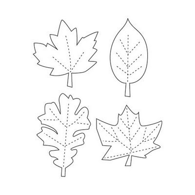 Printable Leaf Stencils | Topic: Thanksgiving Leaf Garland