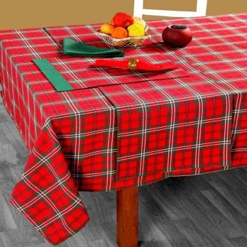 100% Cotton Christmas Prince Edward Tartan Tablecloth