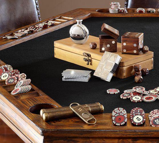 Poker table pottery barn poker pinterest man cave for Pottery barn poker table