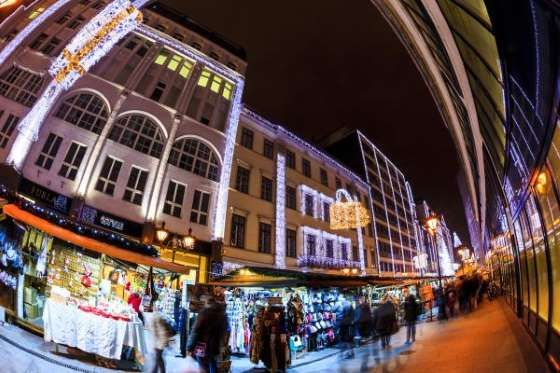 Christmas Budapest Christmas Fair And Winter Festival Europe.Budapest Hungary Held In Vorosmarty Square The Budapest