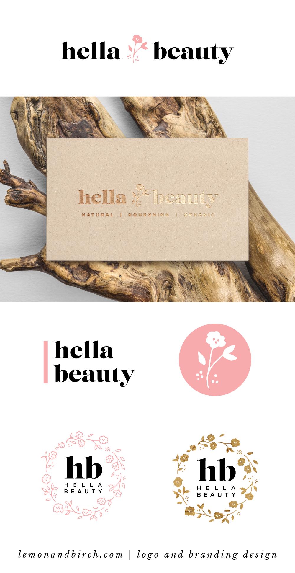 From Top Main Logo Logo In Foil On Business Card Secondary Logo Version Icon For Example For Inst Branding Design Logo Design Feminine Beauty Logo Design
