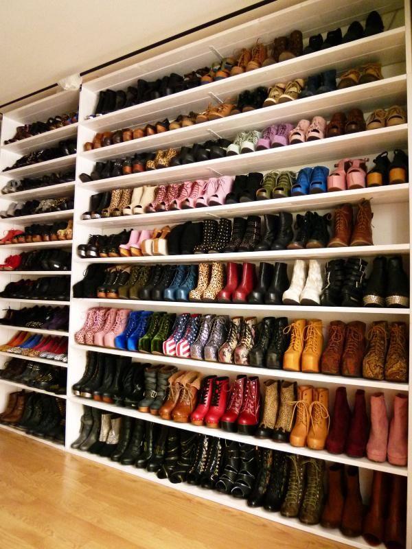 10 fotos de closets de zapatos que te encantar n ideas - Armarios para zapatos ...
