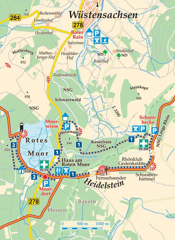 Rhon Rundweg 1 Moordorf Karte Dorf Schwarzwald Reisen