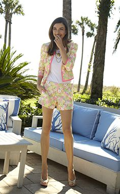 Lilly Pulitzer Spring '13- Nelle Jacket and Sloane Short in Multi Floral Sunbonnet Lace. Shop this look: http://www.lillypulitzer.com/ensemble/entity/49061-55496-47321.uts?img=15#product_5712