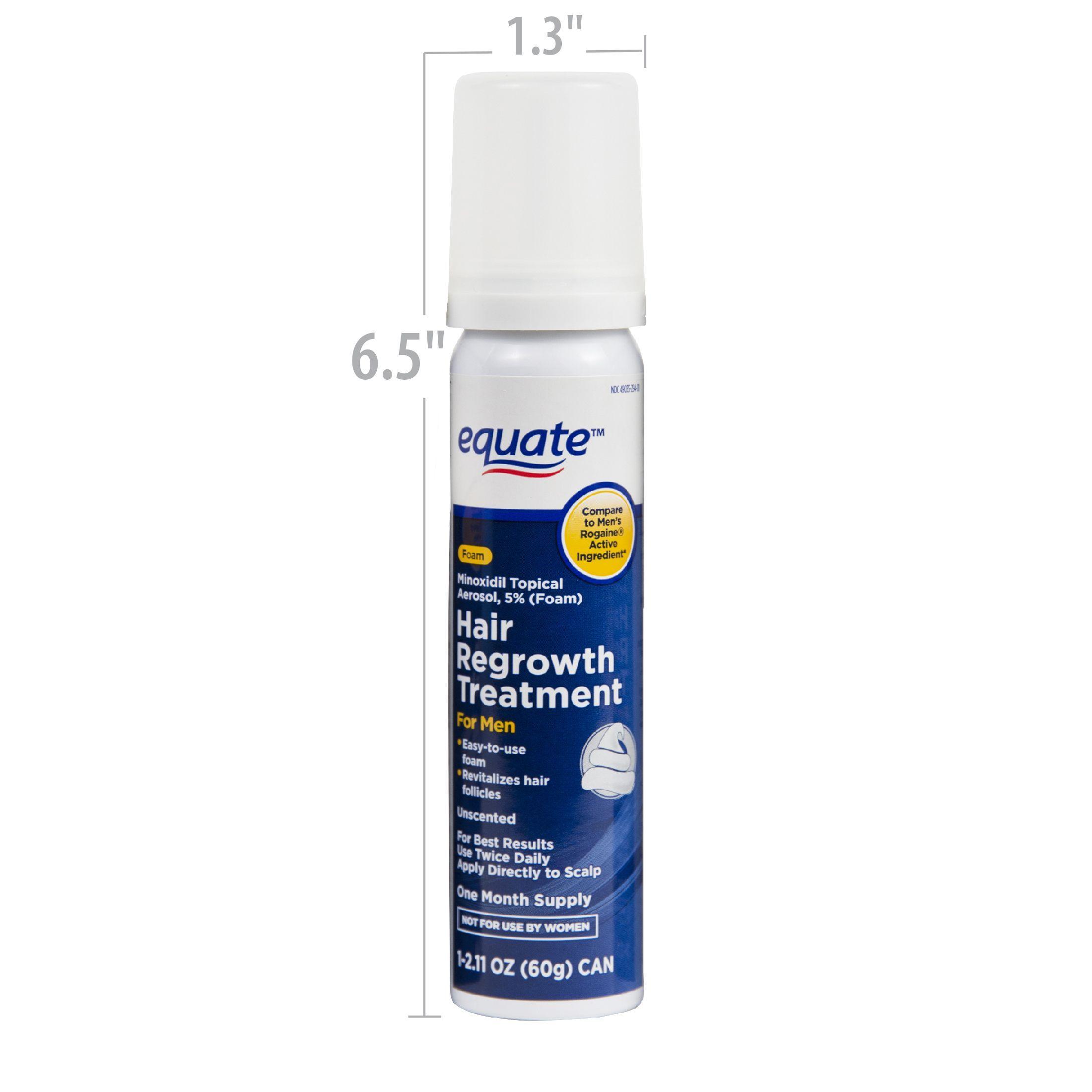 6Month Equate Foam Hair Mens Minoxidil Regrowth