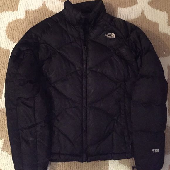 North face coat Black bugaboo north face coat. Still in great condition and has tons of feathers. This is honestly the warmest coat I've ever had. Also those aren't stains it is just the glare from the light. North Face Jackets & Coats Puffers
