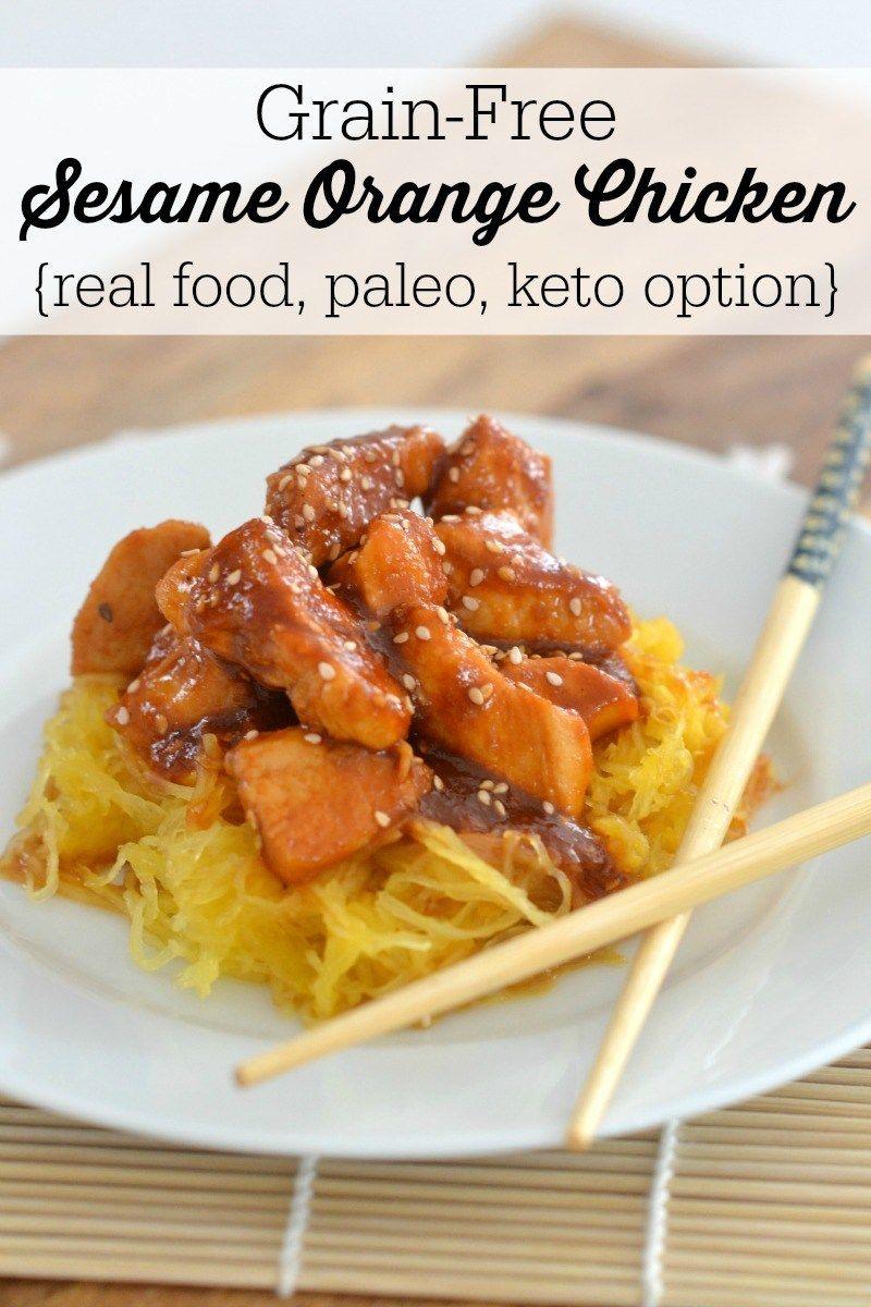 Keto Instant Pot Sesame Orange Chicken (paleo, Whole30