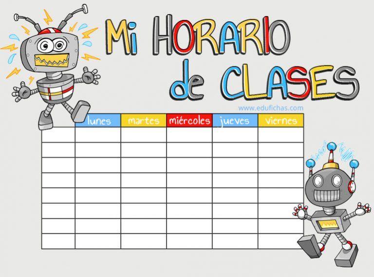 Horarios Para Imprimir Plantillas De Horario De Clases Gratis 2020 Horario De Clases Horarios Para Imprimir Horario Para Ninos