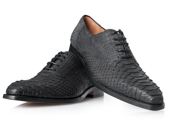 fe7ce7374887ef SHOEPASSION.com – Goodyear-welted Python Skin Shoe