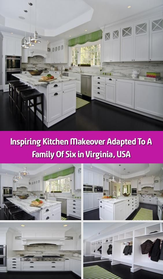 Inspiring Kitchen Makeover Adapted To A Family Of Six in