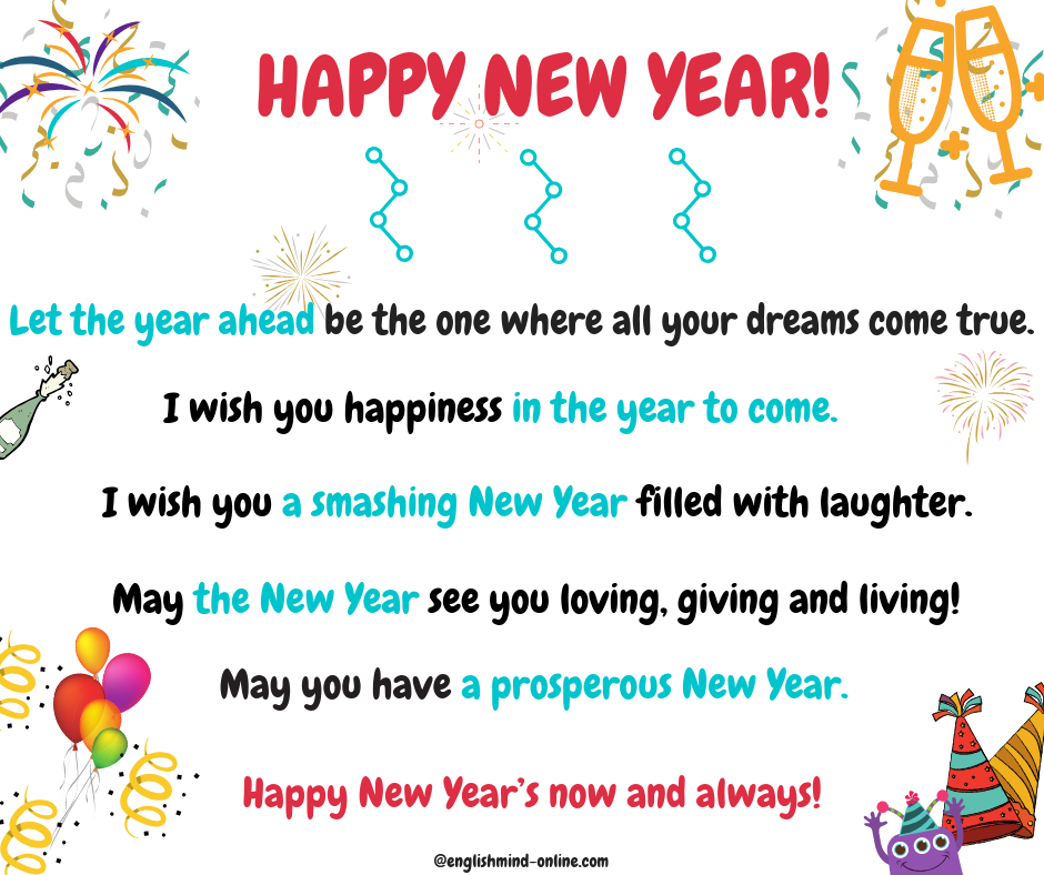 Happy New Year Greetings And Wishes In English Other Ways To Say I Wish You Happiness Happy New Year