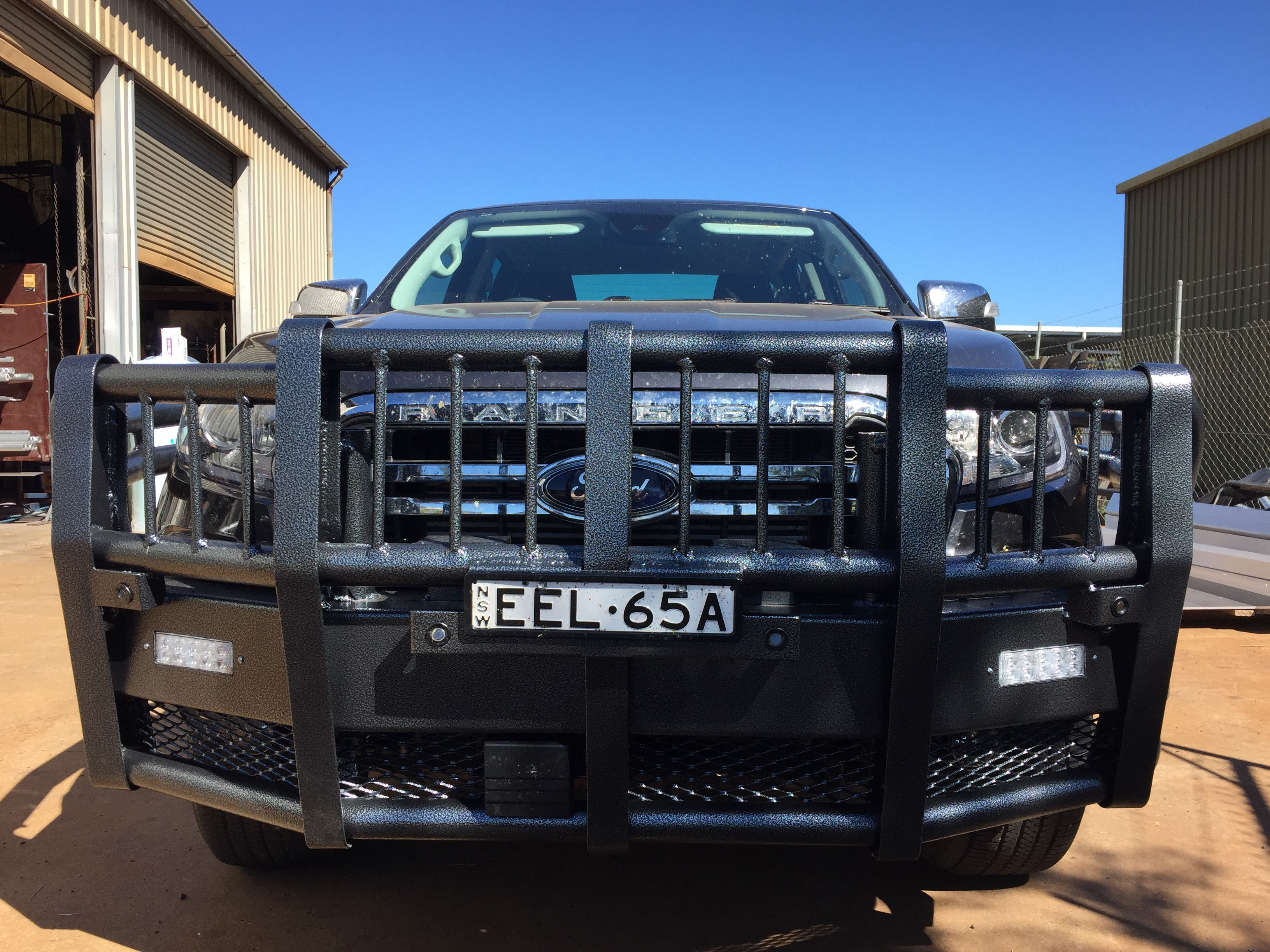 Standard Bullbar And Rail Combo For A 2019 Ford Ranger Powdercoated Aztec Silver In 2020 2019 Ford Ranger Ford Ranger Bug Deflectors