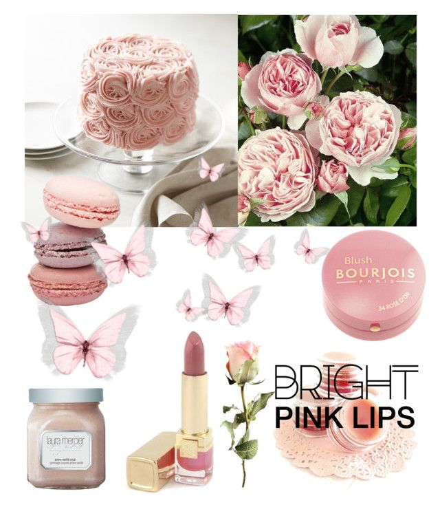 """Pink"" by leahwoodcock on Polyvore featuring beauty, Bourjois, Estée Lauder and Laura Mercier"