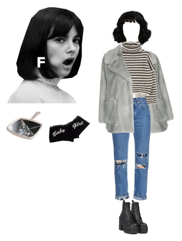 """""""Nervous"""" by methlick ❤ liked on Polyvore featuring Topshop, Bliss and Mischief, UNIF, women's clothing, women's fashion, women, female, woman, misses and juniors"""