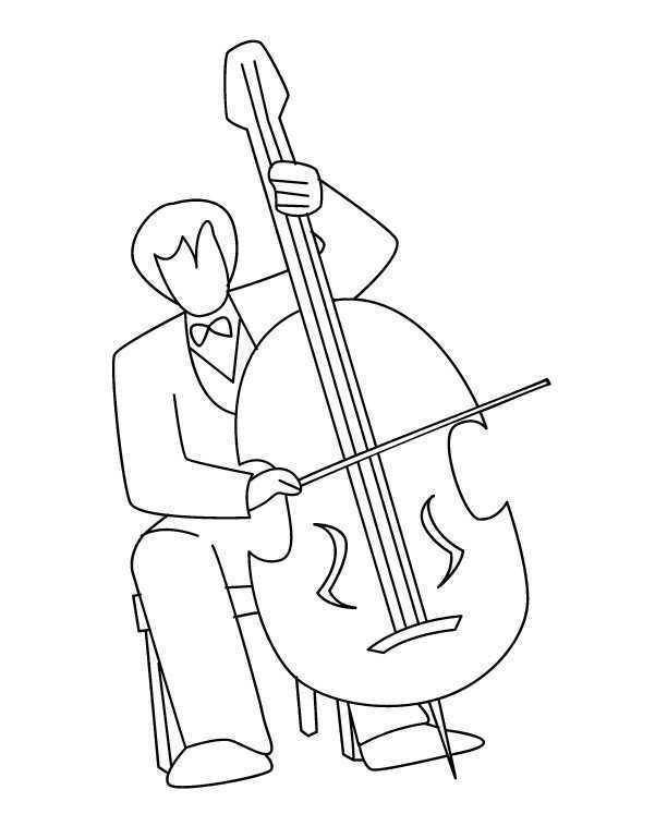Preschool Cello Coloring Page In 2020 Musicals Coloring Pages Musical Instruments
