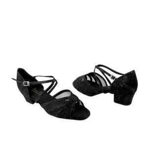 9040b2b431530 VF-1670C-L150-15-SP Ladies Dance Shoe Lace Black Scale | Shoes I ...