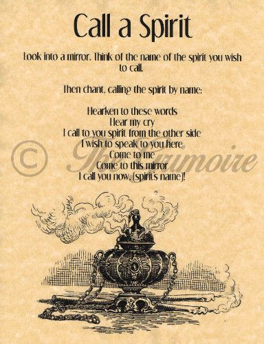 Call a Spirit, Book of Shadows Spell Page, Wicca, Witchcraft, Real