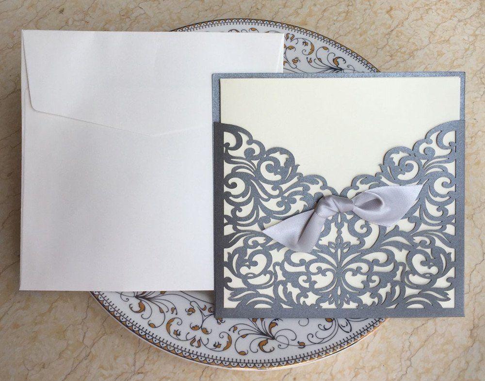 Graces Dawn 100pcs Lasercut Lace Flower Pattern Wedding