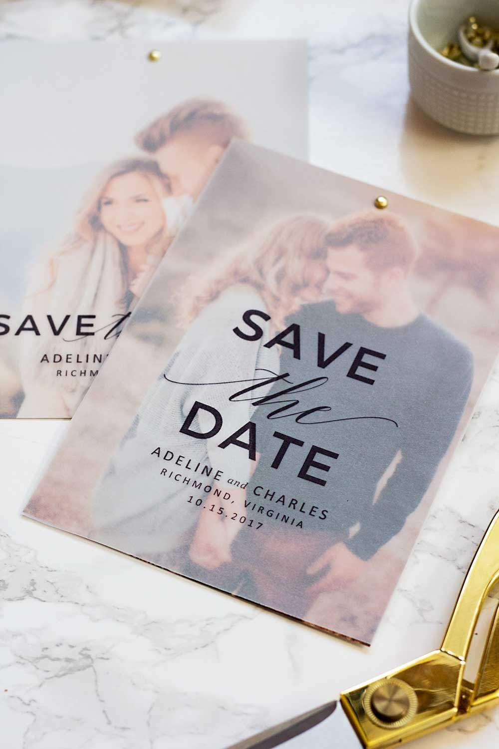 make these gorgeous save the dates at home with this free save the