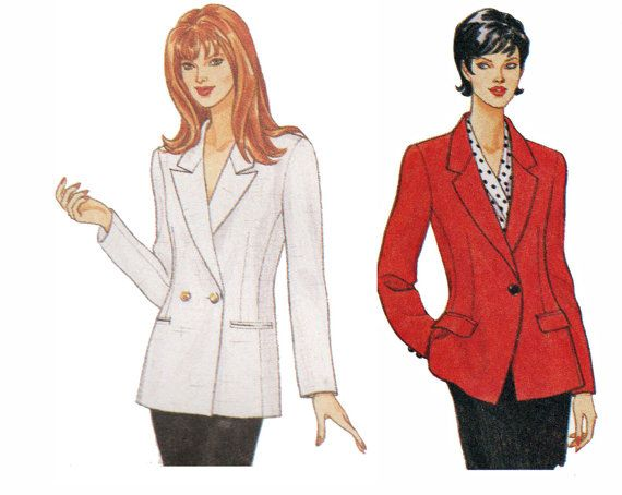 Misses Classic Linen, Corduroy or Wool Blazer Sewing Pattern by TheOldLeaf, $8.95. #BusinessAttire