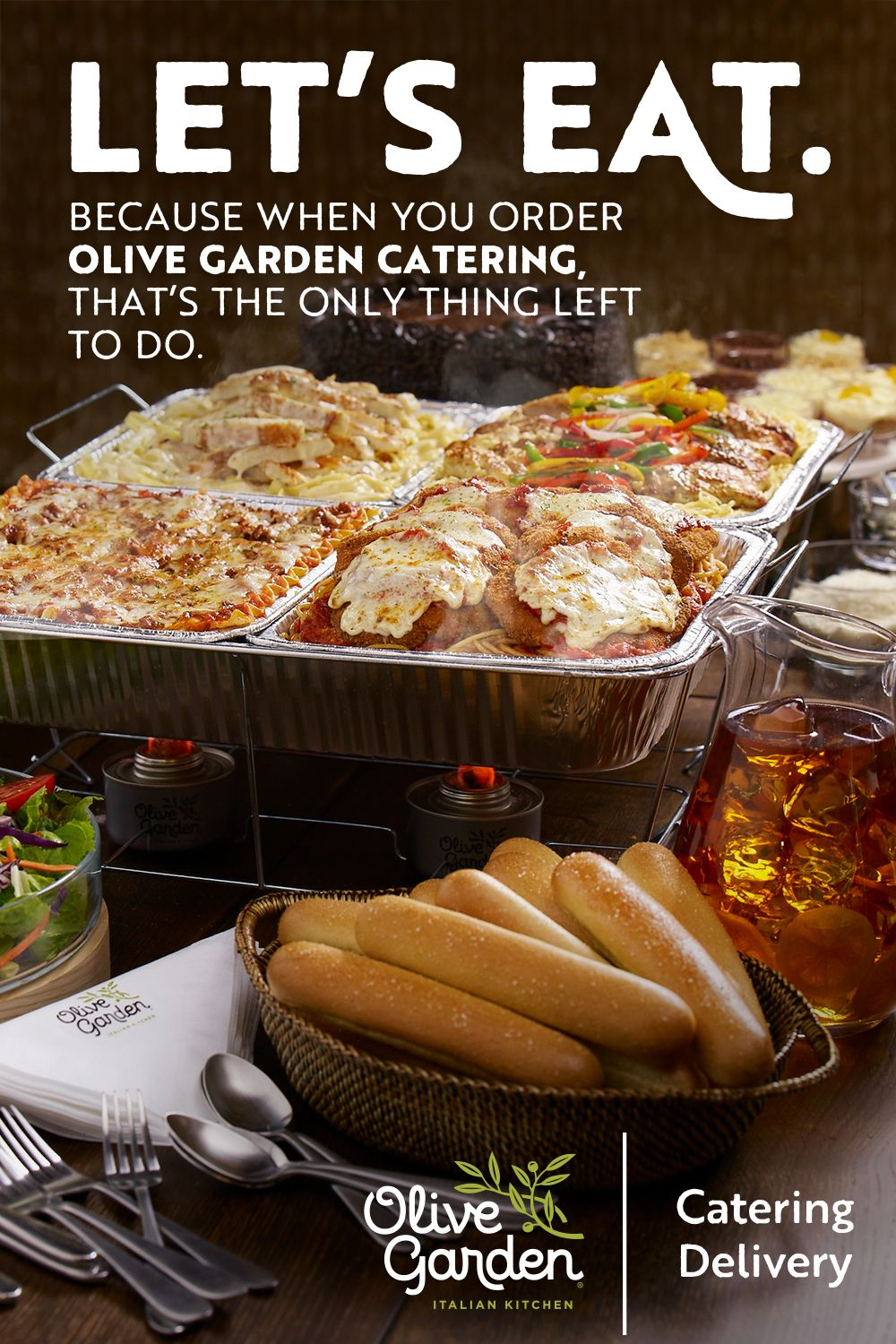 With Olive Garden catering, holiday planning (and enjoying