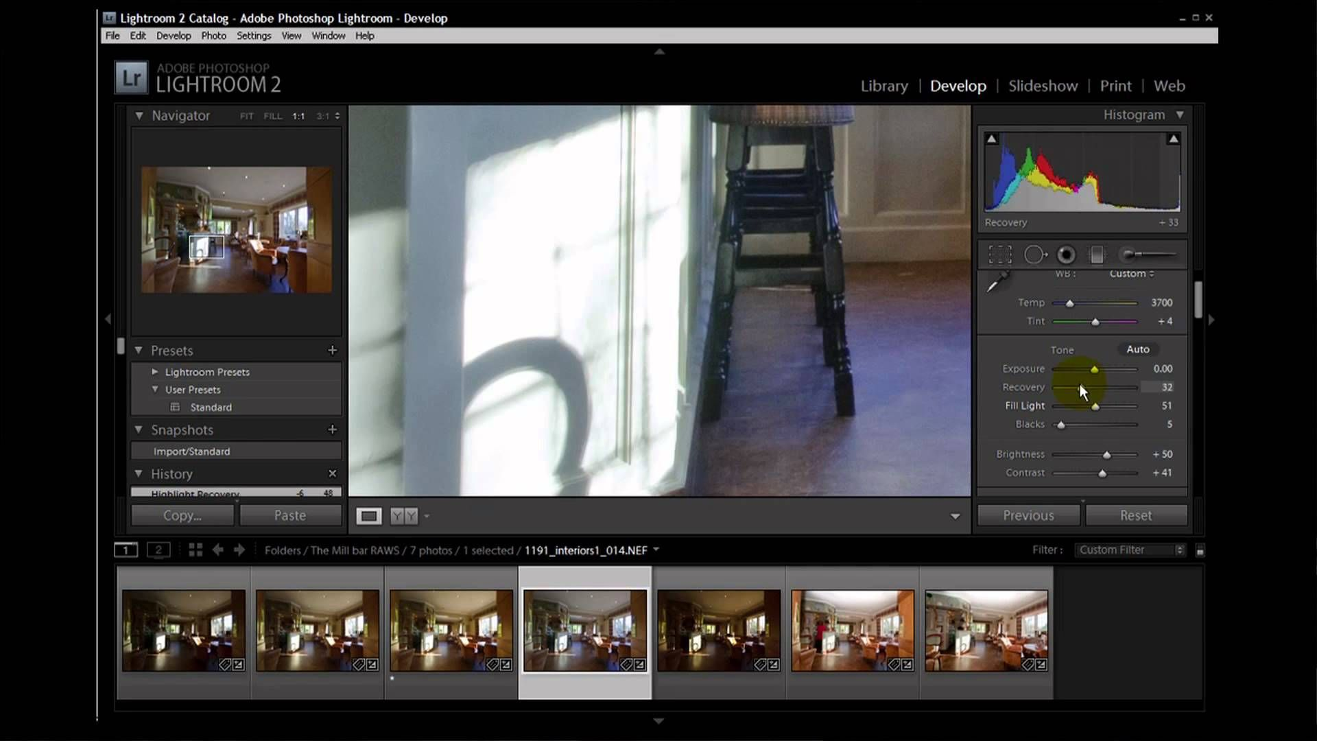 Architecture Photography Settings photographing interiors - live shoot of a bar renovation (part 2