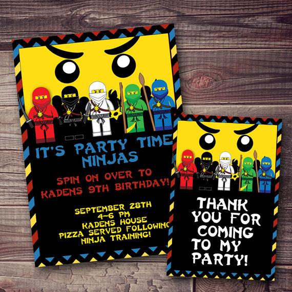 Ninjago inspired Lego clipart invitation FREE wording - free invitation clipart