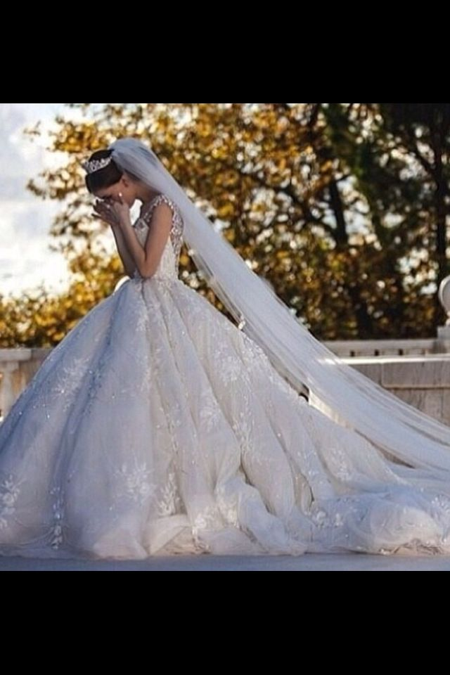 Beautiful shot to get of the bride showing off her dress | That ...