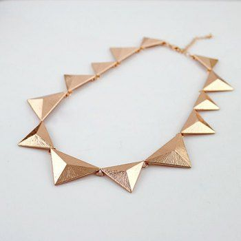 Triangle Embellished Alloy Sweater Chain Necklace For Women - DressLily.com