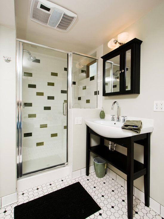 Unusual Small Bathroom Designs spots of color tiles in mostly white is cool. small bathrooms