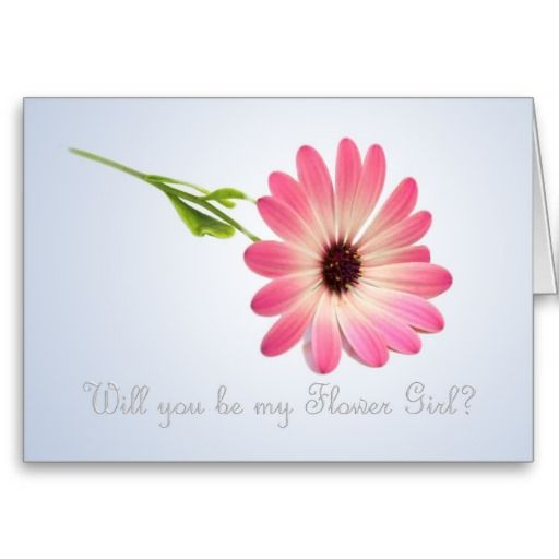 Will you be my Flower Girl card Card Flower