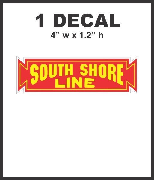 South Shore Line Railroad Rail Road Lines Company Decal Nice