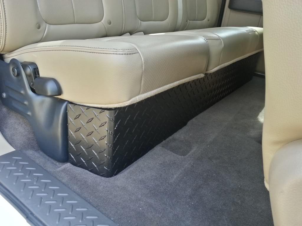 Ebay Diamond Plate Under Seat Storage Ford F150 Forum Community Of Truck Fans