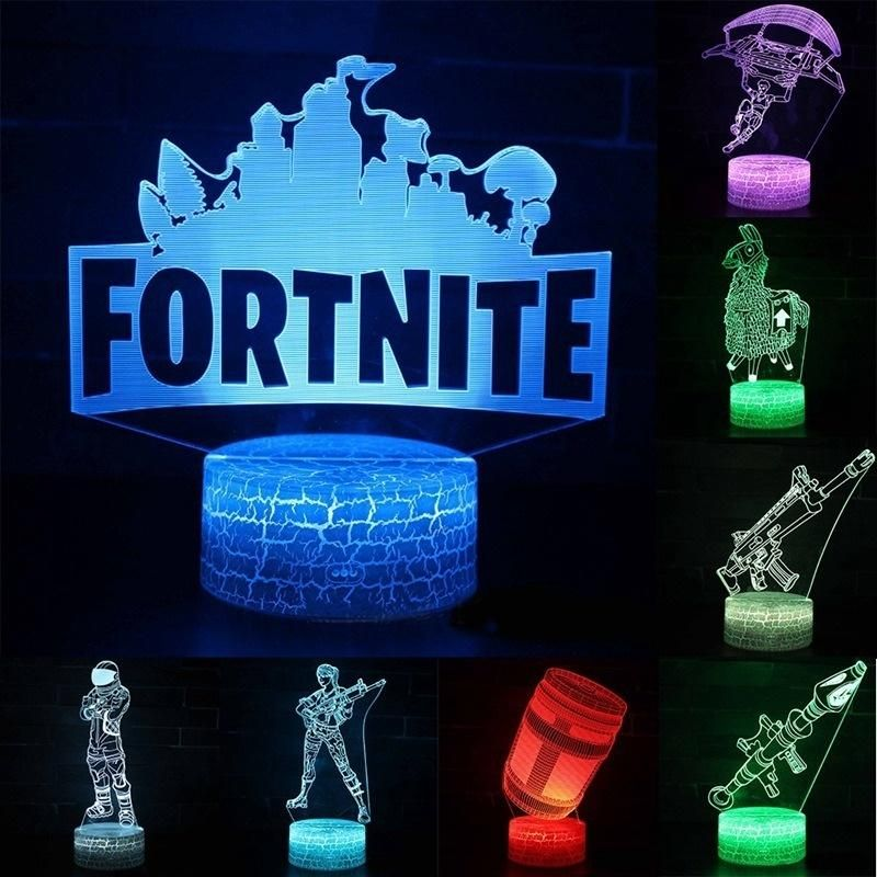 New Fortnite 3d 7 Color Led Lamp Night Light Led Night Light Night Light Led Color