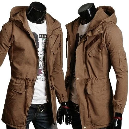 bd7c0047e00e Military Winter Mens Slim Fit Hoodie Coat Warm Parka Trench Coat Hooded  Jacket