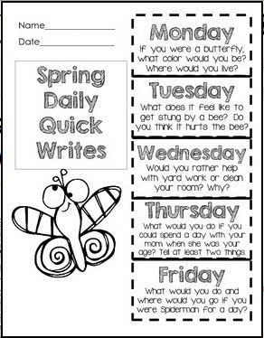 quick write prompts Journal writing prompts: these high-interest prompts will encourage kids to   the deductive approach is a great way to deliver concepts quickly and efficiently.