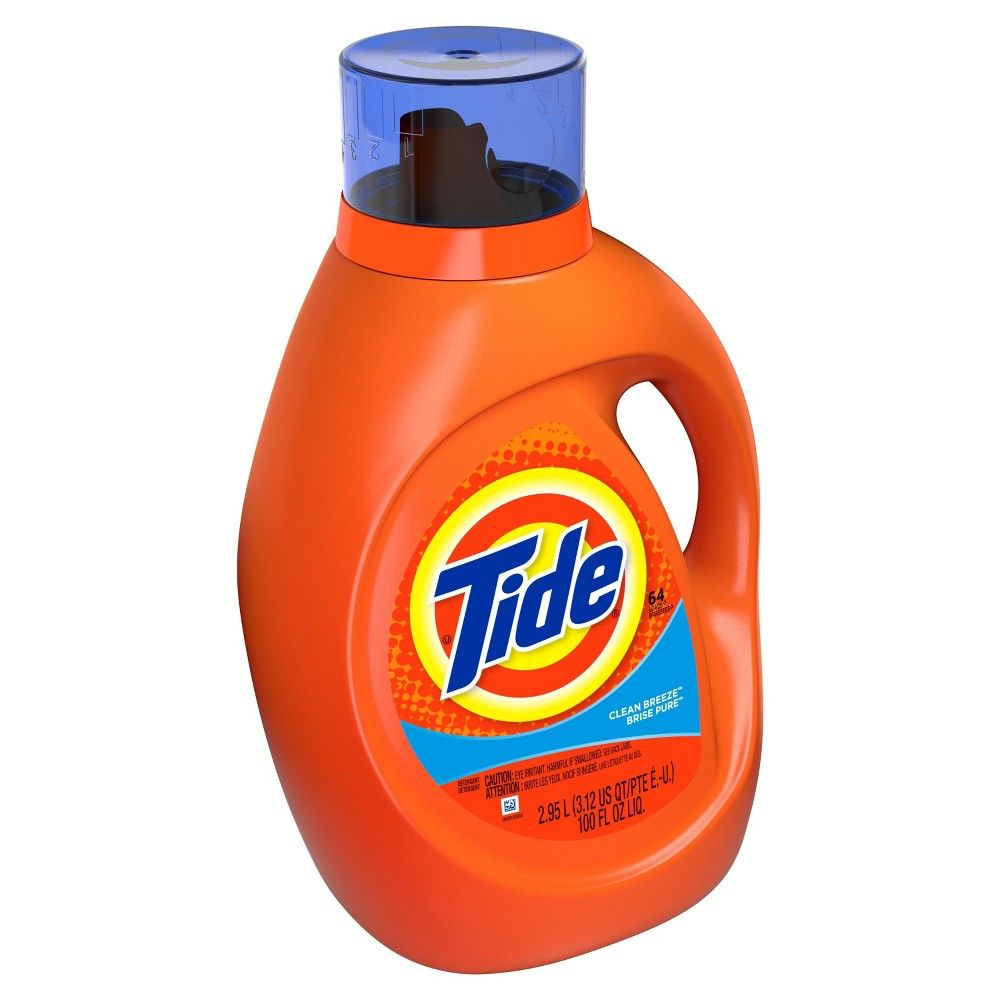 Tide Clean Breeze Liquid Laundry Detergent 100oz Laundry