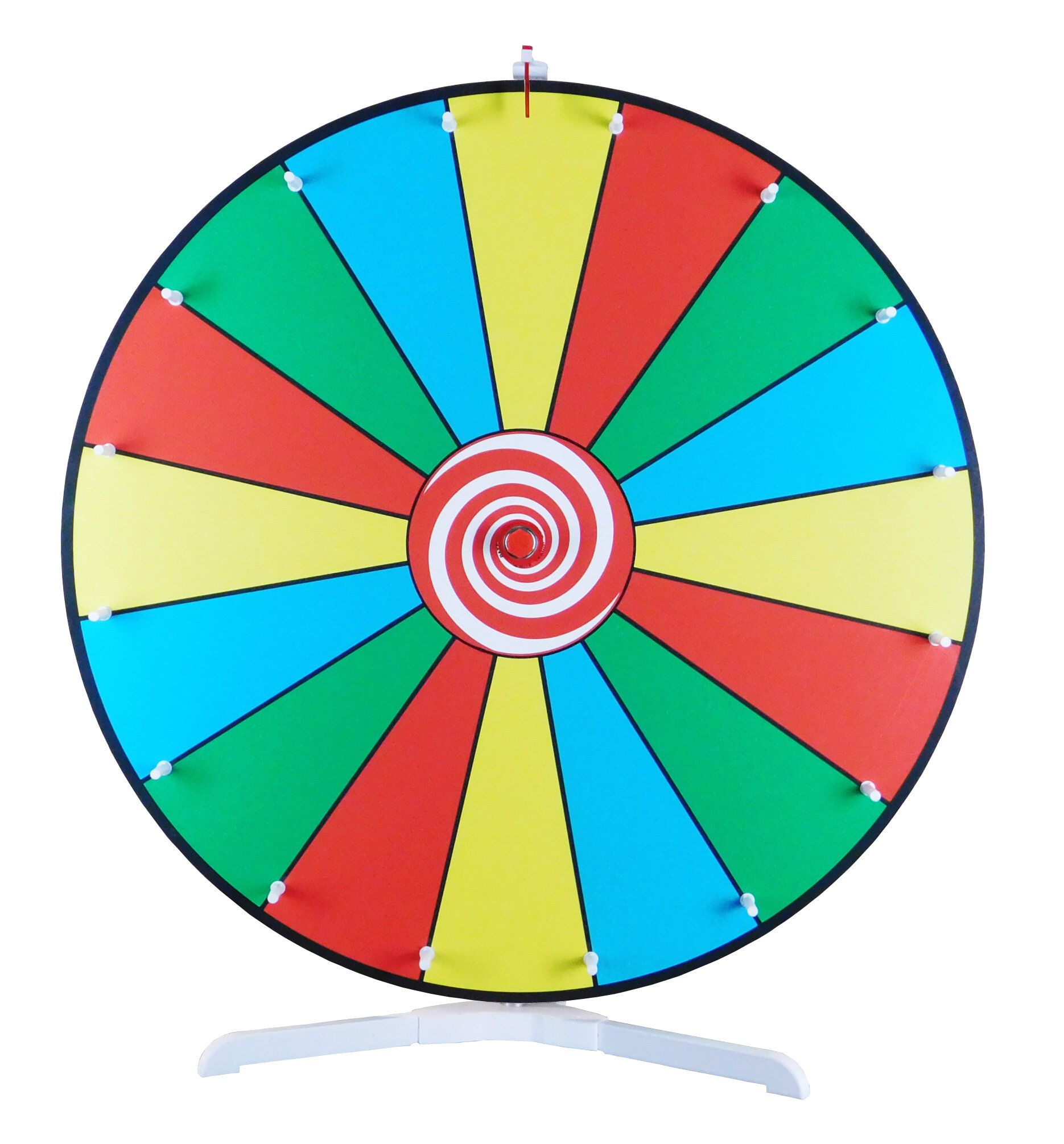 Prize Wheel 24 Inch Dry Erase Color Face Classic Peg