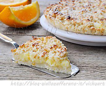 Sbriciolata all'arancia con crema ricetta dolce facile